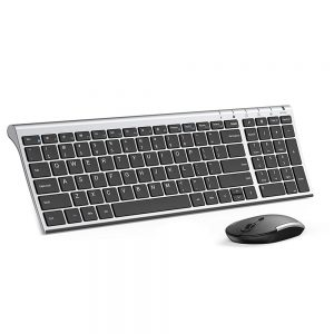 Ultra Thin Jelly Comb 2.4 G Wireless Keyboard and Mouse Combo