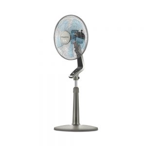 Rowenta-Fan,-Oscillating-Fan-with-Remote-Control,-Standing-Fan,-4-Speed,-Silver
