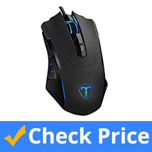 Pictek Silent Wireless Gaming Mouse with 7 Buttons