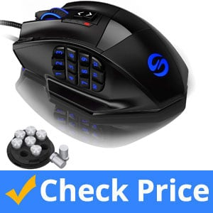 UtechSmart-Venus-Gaming-Mouse-RGB-Wired,-16400-DPI-High-Precision-Laser-Programmable-MMO-Computer-Gaming-Mice